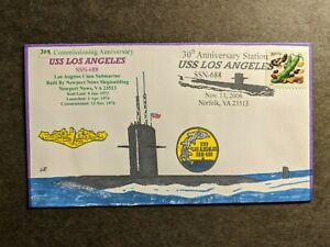 USS LOS ANGELES SSN-688 Naval Cover 2006 EVERETT HAND-PAINTED Cachet