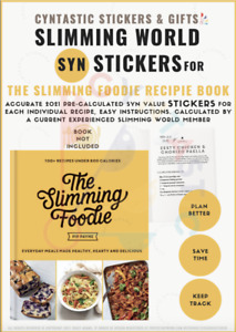 💛NEW Slimming World Syn Stickers For The SLIMMING FOODIE Book💛HUGELY POPULAR💛