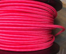 Pink Tuch Bedeckt 3-Wire Rund Kordel, Vintage Riemenscheibe Anhänger Licht Antik