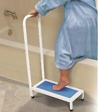 Bath Step With Handle Non Slip Surface Sturdy Aid Bathroom 500LBS NEW Shower