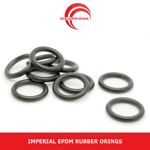Imperial EPDM Rubber O Rings 2.62mm Cross Section BS102-BS125 - UK SUPPLIER