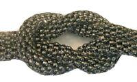 """Gun Metal Black Double Strand 1 1/2"""" Knot Bracelet 8 1/4"""" L"""