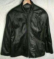PRE-OWNED Wilson's The Leather Experts Women's Size Large Black Jacket Zip Up