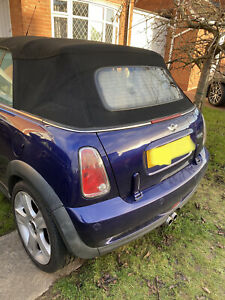 BMW Mini One Cooper S Convertible R52 R57 rear soft top roof weather seal repair