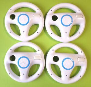Original Nintendo Wii Wheel Lenkrad für Mario Kart  in weiß - schwarz 1-4 Stück