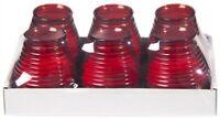 Glaswindlicht Flairlight Rot 6 Stück im Tray - Sovie CANDLES - Kerzen Windlicht