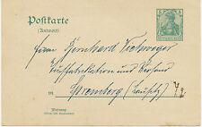 DT.REICH 5 Pf GA-Antwortpostkarte m privater Zudruck adressiert n SPREMBERG