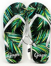 GAP Green Grey Flip Flops Sandals Authentic NWT Thongs Size 9 New