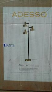 Clayton 66.5 in. Brass Floor Lamp by Adesso