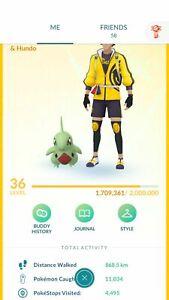Pokémon Go Account Lvl 36 Instinct   133 Shiny   98 Legendary& Mythical