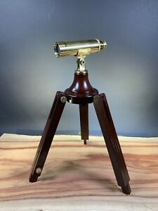 Bombay Company Spyglass With Wooden Tripod. For Parts Or Repair