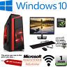Fast Gaming PC Intel Core i7 Quad Core Computer 16GB Ram 1TB+128GB SSD 2GB GT710