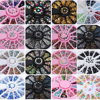 3D Nail Art Rhinestone Glitters Acrylic Tips Decoration Manicure Wheel 18 Styles