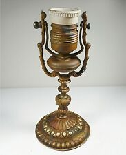 ANTIQUE DESK LAMP MOVABLE STYLE ART NOUVEAU IN BRONZE WITH PORCELAIN