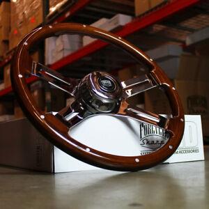 "18"" Dark Steering Wheel 4 Spoke Rivet Freightliner Kenworth Peterbilt - BLEM"