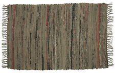 Sturbridge 6' x 9' Country Rag Rug in Khaki Tan/Drab Green, Hand Woven, Cotton