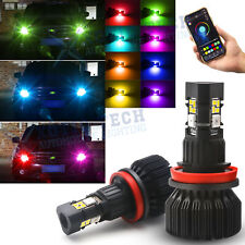 Phone Control Wireless Multi-Color H8 H11 H9 LED Fog DRL Light For Honda Civic