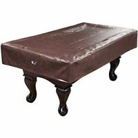 7ft/8ft/9ft Heavy Duty Leatherette Billiard Pool Table Cover (Blk/Bn/Green/Gray)