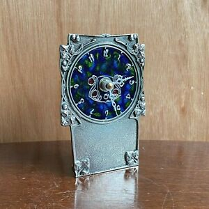 Pewter Enamel Clock AK10- AE Williams UK - Arts Nouveau Archibald Knox Style New