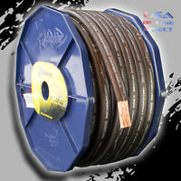 0 Gauge 20 ft. BLACK Power OFC Wire Strands Copper FLAT  Marine Cable 1/0 AWG US