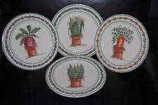 Mary Hughes Signed Otagiri Dinner Plates Kitchen Garden Set of Four NEW