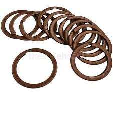 12x Steel Keyrings 28mm Flat Split Rings Jump Ring Connectors Craft Findings