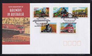 Australia 2004 150th Anniversary of Railways in Australia Self Adhesive FDC