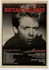 Bryan Adams UK Tour advert 1985