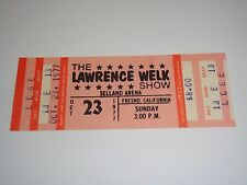 The Lawrence Welk Show 1977 Unused Concert Ticket Selland Arena Fresno Ca Usa o