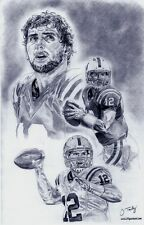 Andrew Luck Indianapolis Colts sketch picture poster ART