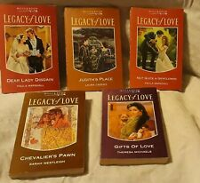 Vintage books novels mills & boon Legacy Of Love collection lot collectors set