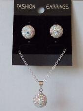 Rhinestone Silver Plated Fashion Jewellery Sets