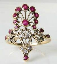 Ruby Yellow Gold Victorian Fine Jewellery