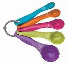 Measuring Spoon Set- KitchenCraft Coloured Plastic Set of 5