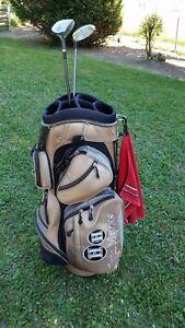 gebrauchtes Golfbag mit 2 Holzschläger, Ping G2 und Wilson Pro Staff Nr. 7