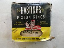 "US made Old Inventory Hastings 592 Engine Piston Ring Set 4"" std. Ford 6 Cyl"