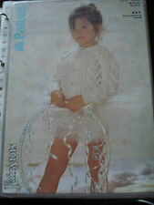 FAIRYTOTS CARDIGAN KNITTING PATTERN BY PATONS # 3480