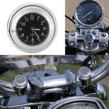 """7/8""""-1"""" Chrome/Black Handlebar Mount Clock for Honda Valkyrie Goldwing GL 1800"""