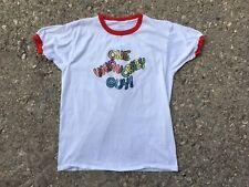 Vintage WILD & CRAZY GUY Ringer T-Shirt XL 80s STEVE MARTIN GLITTER TRANSFER