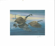 New York #10 1994 State Duck Stamp Print Canada Geese by Jerome Hageman