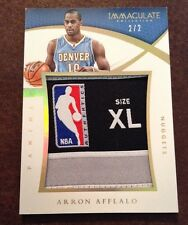 2014-15 Immaculate Basketball ARRON AFFLALO Game Worn Laundry Logo Tag 2/2 Wow