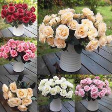 1/10pc Rose Seidenblumen Kunstrose Blumenstrauß Künstliche Kunst Blumen Hochzeit