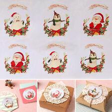 30Pcs/5 Sheet Gift Package Sealing Label Sticker Paper Christmas Series Sticker
