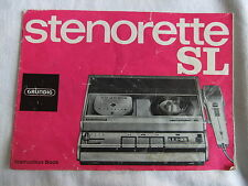 Instructions Dictaphone stenography GRUNDIG STENORETTE SL CD / email