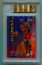 1995-96 TOPPS FINEST MYSTERY BORDERLESS REFRACTOR MICHAEL JORDAN BGS 9.5 GEM