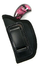 BLACK NYLON IN-THE-PANTS IWB CLIP-ON LH HOLSTER - NAA 22 MAGNUM MINI REVOLVER