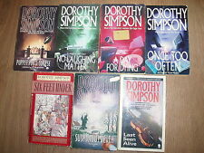 * 7 FASCINATING INSPECTOR THANET BOOKS by DOROTHY SIMPSON * UK POST £3.25* PB *