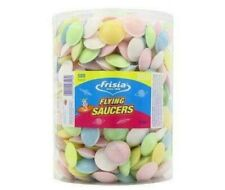 FRISIA FLYING SAUCERS TUB OF UFO SWEETS CHILDREN'S PARTY 375g