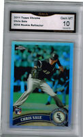2011 Chris Sale Topps Chrome Refractor rookie gem mint 10 #205
