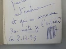 Iris Clert Belle Dédicace manuscrite signé Iris Time l'artventure E/O 1978
